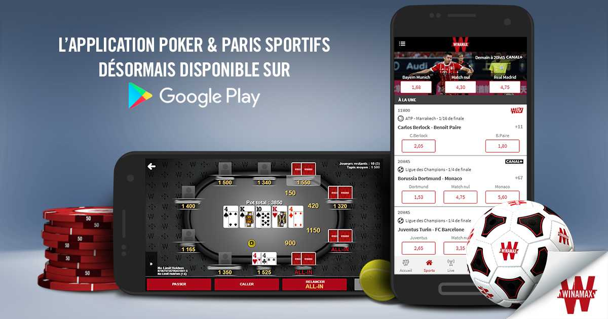 mobile Winamax sur Android