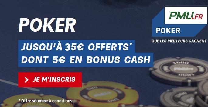 bonus PMU au poker